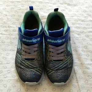 Skechers Girls Size 12.5 Running Shoe Blue Sparkle